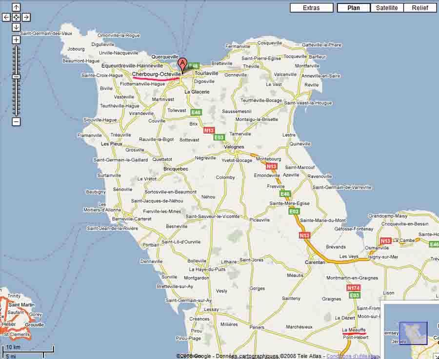 Carte Du Nord Cotentin | tonaartsenfotografie